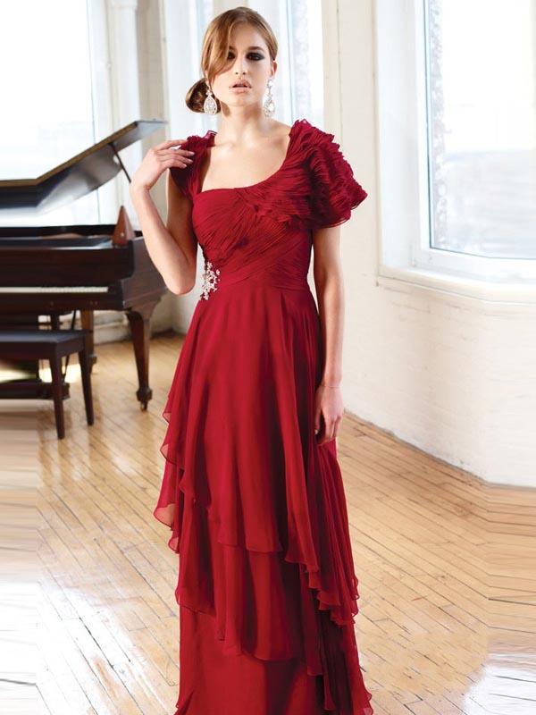 abito da sera rosso