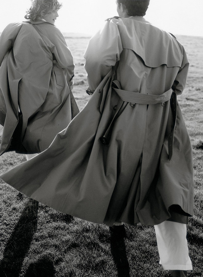 trench - campagna Burberry Prorsum Roberto Menichetti 1998