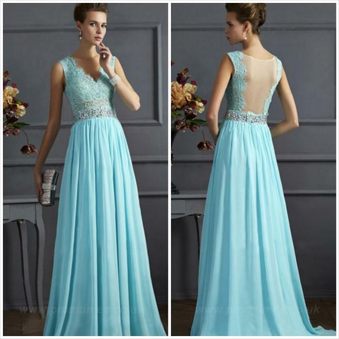 abito lungo - azzurro