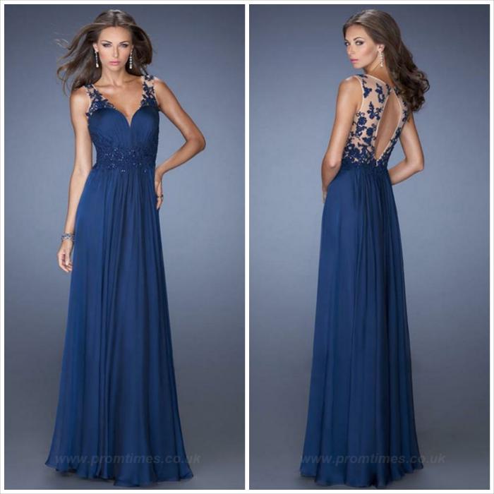 abito lungo - blu