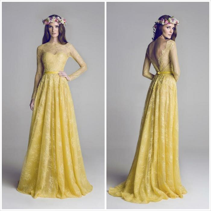 abito lungo - giallo