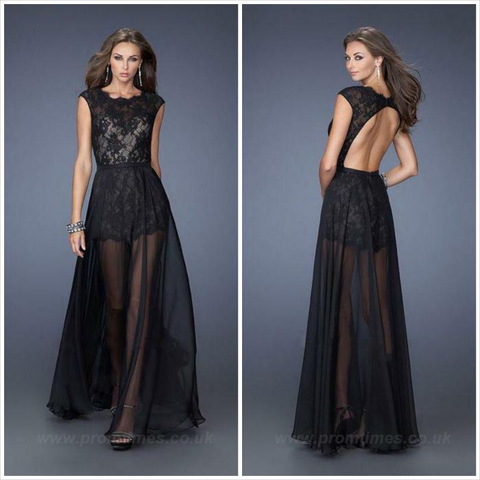 abito lungo - nero