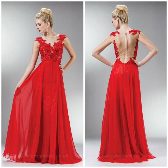 abito lungo - rosso