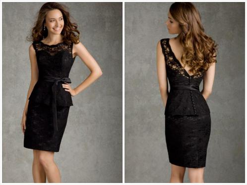 little black dress - peplum