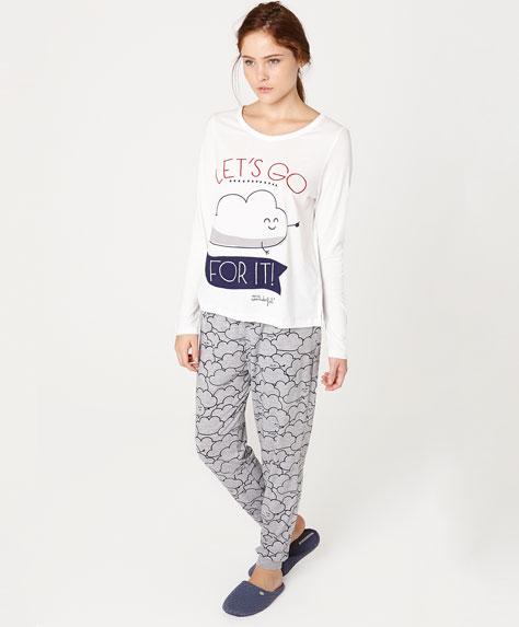 mr wonderful per oysho - pigiama nuvola