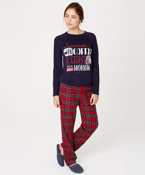 mr wonderful per oysho - pigiama scozzese