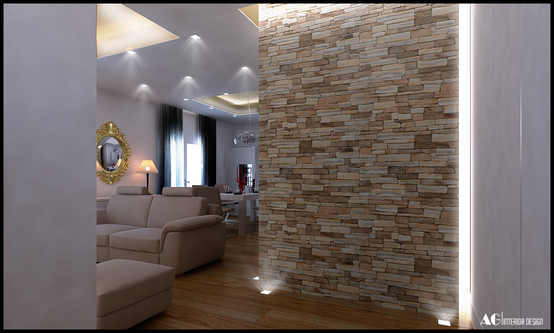 Decorare la casa pareti in legno pietra for Pared de piedra salon