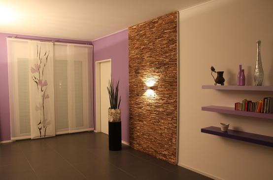 Decorare la casa pareti in legno pietra - CoolFashionStyle.it