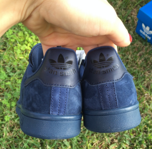 logo Stan Smith blue suede