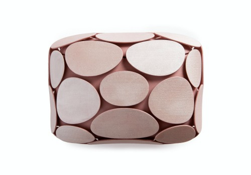 Maison 203 Armure clutch pink
