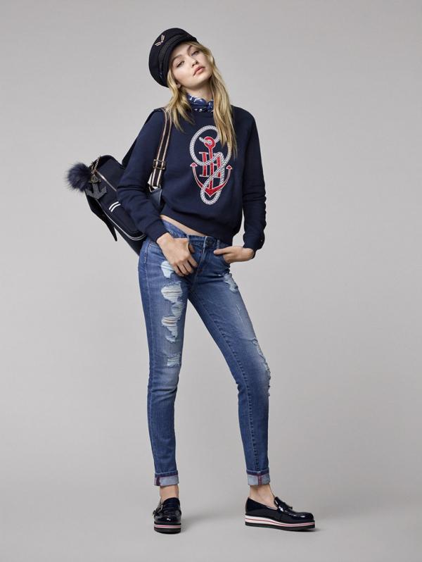 TommyXGigiTommy Hifilger Gigi Hadid sweatshirt jeans