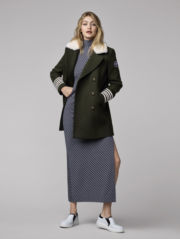 TommyXGigi Tommy Hifilger Gigi Hadid wool trench,dress