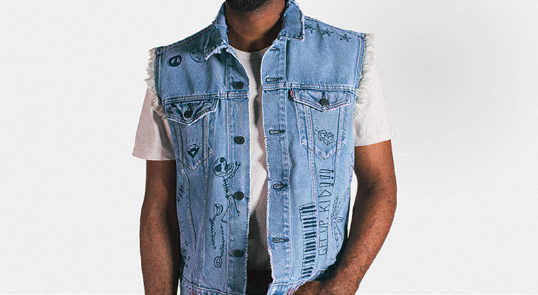 501 limited edition trucker vest