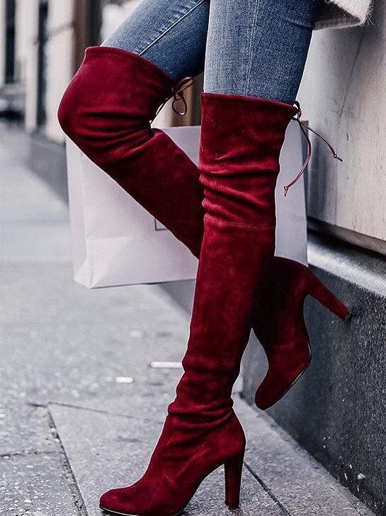 stivali rossi