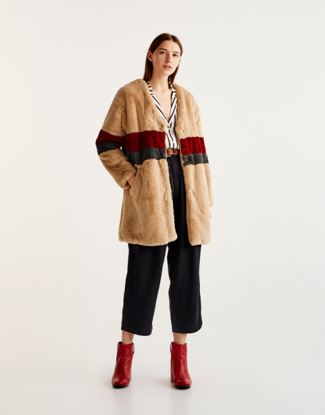 capotto teddy coat pullandbear