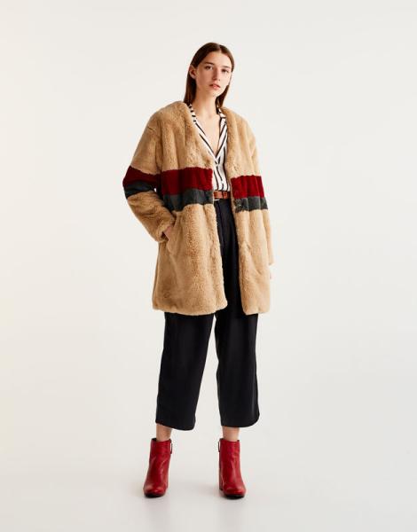 capotto teddy coat pullandbear