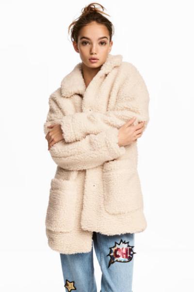 capotto teddy coat hm
