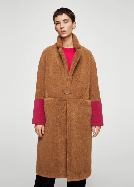 cappotto teddy coat mango