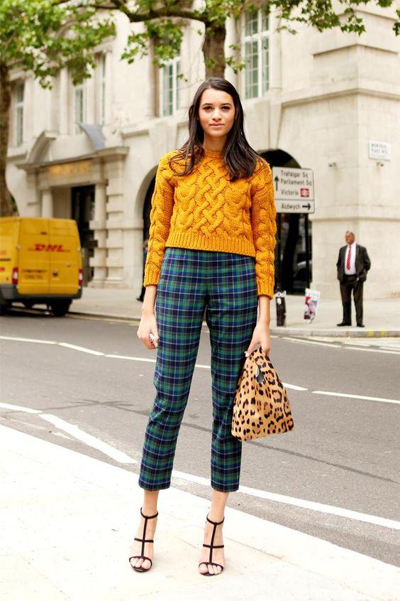 maglione con trecce giallo