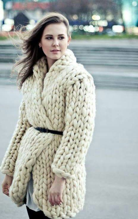 maglione lana grossa bianco