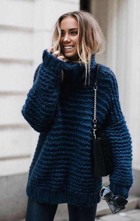 maglione over size verde