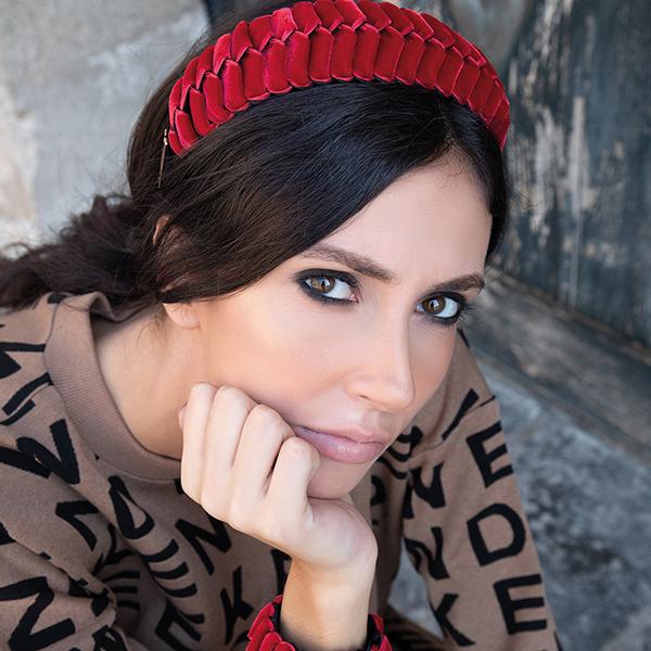 cerchietto rosso danima brand siciliano al white milano