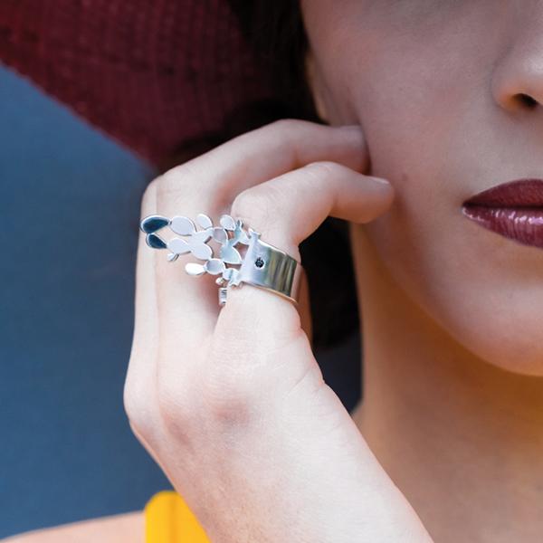 anello cactus duci jewerly di martina ciaccio al white milano