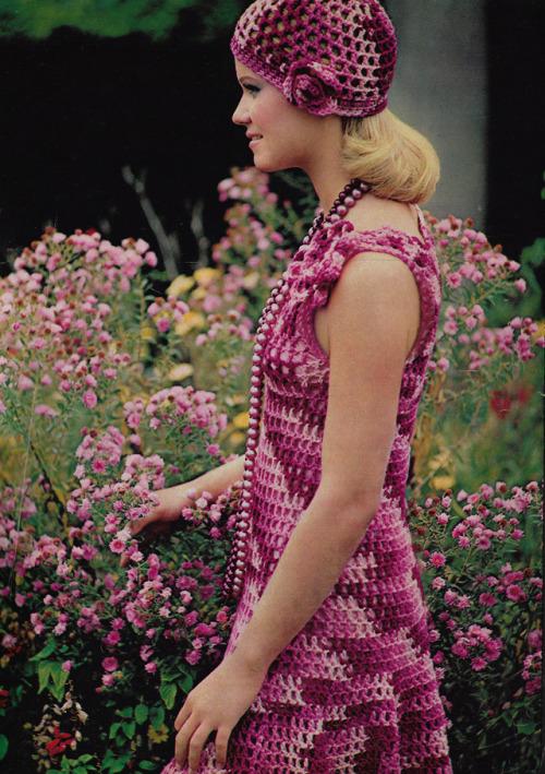 vestito crochet anni 70